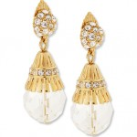 Fancy Fluted Bead Drop Earrings 35.50